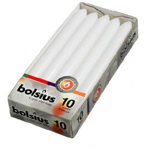 Bolsius Dinerkaars 230/20 doos 10 Wit