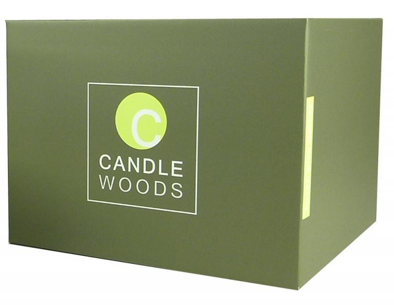 Citrobella® XL citronella kaars in glas met stil houtlont 700 g in geschenk doos