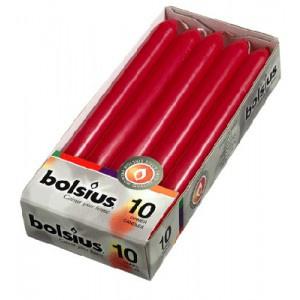 Bolsius Dinerkaars 230/20 doos 10 Wijnrood