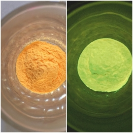 Glow in the dark pigment yellow