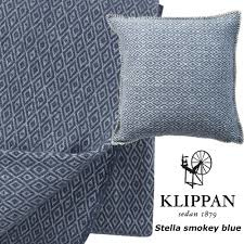 Blauw plaid Klippan Stella Smokey blue