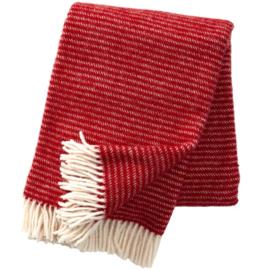 Klippan plaid eco wol Ralph rood