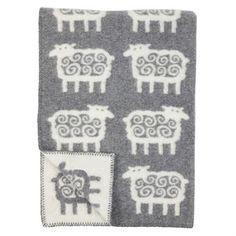 Klippan kinderdeken eco wol Schaapjes grijs