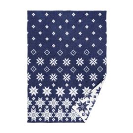 Wollen deken Snowfall blue