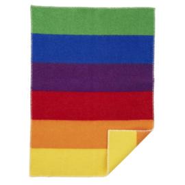 Klippan eco wollen wiegdeken Rainbow