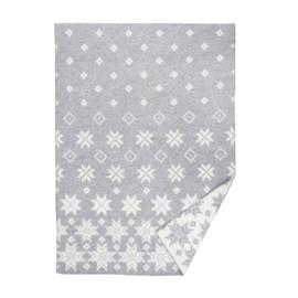 Wollen deken Snowfall grey