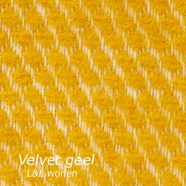 Klippan plaid geel Velvet