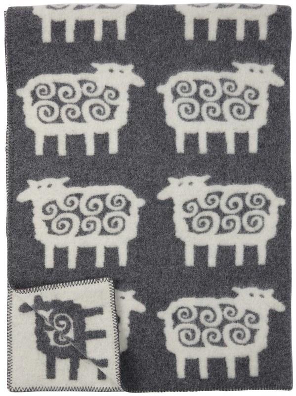 Klippan deken  Schaap grijs-ecru