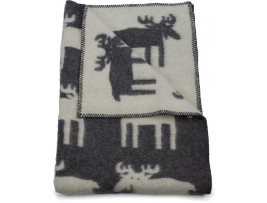 Klippan kinderdeken eco wol Eland grijs