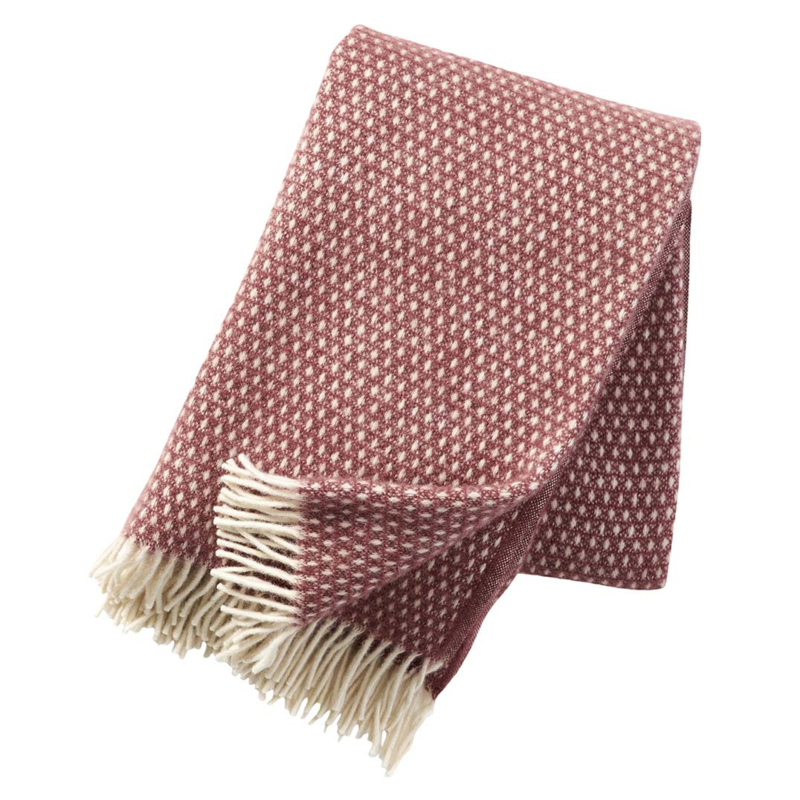 Klippan plaid Knut rose brown