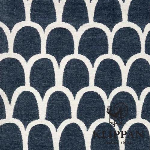 Katoenen plaid Klippan Feathers blue