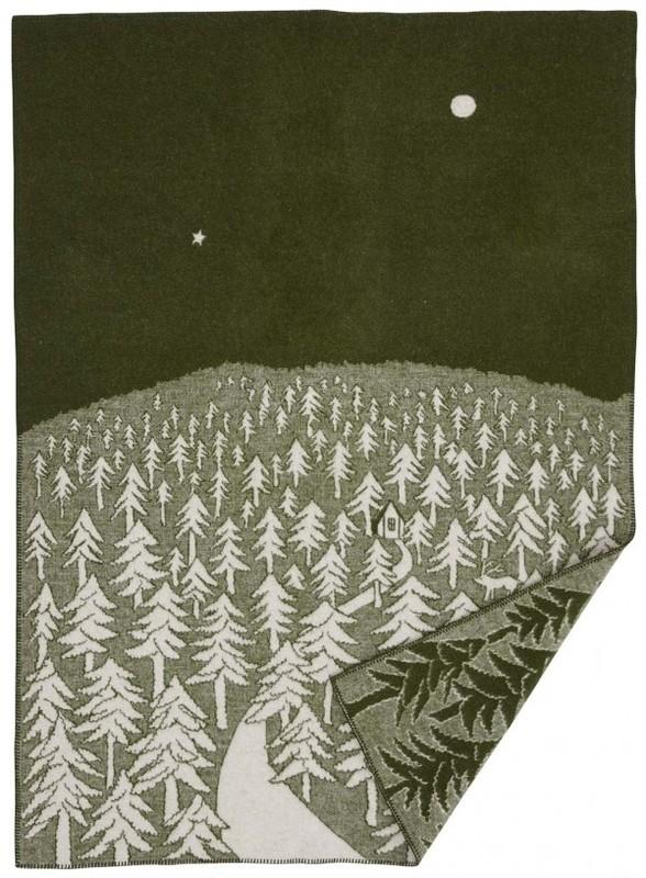 Klippan deken House in the Forest groen
