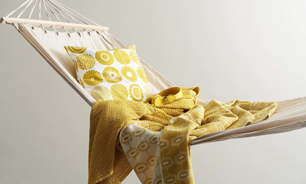 Klippan Wollen plaids  geel
