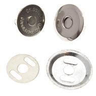 Magneetsluiting zilver 16 mm - extra plat