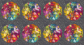 Alison Glass Art Theory Panel Grey - 7864C
