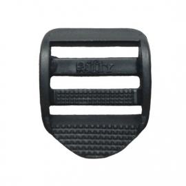 Kunststof laddergesp zwart  25 mm
