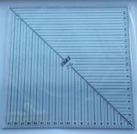 Liniaal  20 x 20 cm