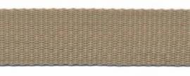 Tassenband 20 mm zand