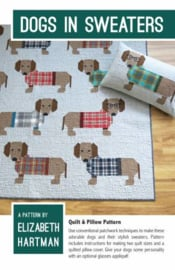 Quiltpatroon by Elizabeth Hartman - Dogs in Sweaters
