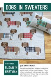 Quiltpatroon by Elizabeth Hartman - Dogs in Sweaters