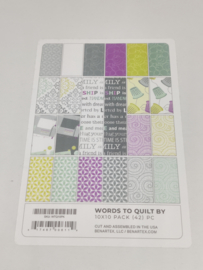 10 x 10 Pack Contempo - Words to Quilt by