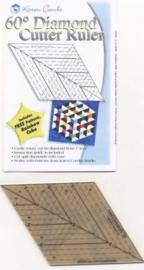 Diamond 60 gr. ruler/liniaal - met gratis patroon