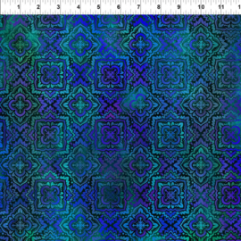 Tapestry Medallion Blue - 3TAP2
