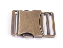 Bronzen klikgesp 40 mm