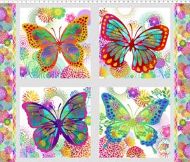 Unusual Garden II Butterfly Panel - 1UGB2