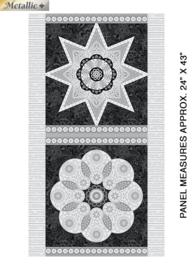 Jubilee Silver - Ruler Panel Silver Black