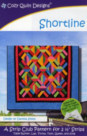 Quiltpatroon - Shortline (gebruik de Strip Tube ruler)