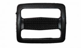 Kunststof schuifgesp zwart  30 mm