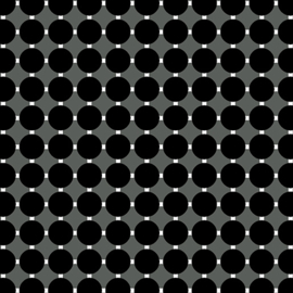 Gridwork Circle Grid Black  - 6815/12