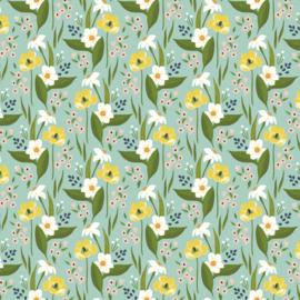 Cora Happy Floral Aqua - 52360/2