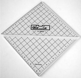 Bloc-Loc linialen - Half Square Triangle  6,5 inch