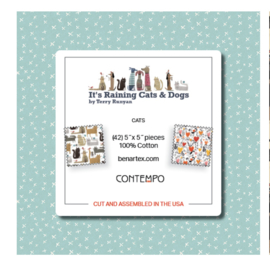 Charm Pack Contempo - It's Raining Cats & Dogs