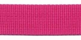 Tassenband 25 mm roze