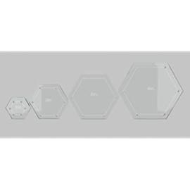 Creative Grids Quilt ruler Hexagons - set van vier