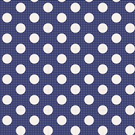 Medium Dots Night Blue - 130026