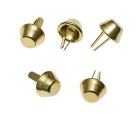 Tasvoetjes goud 10 mm