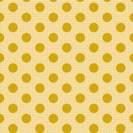 Medium Dots Flaxen Yellow - 13029