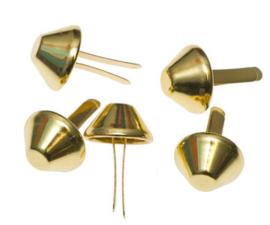 Tasvoetjes goud 15 mm