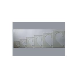Westalee Template Harten Set - 6 linialen