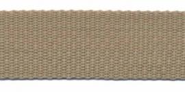 Tassenband 25 mm zand