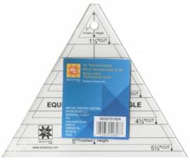 Liniaal EZ Quilting - Driehoek 60 gr