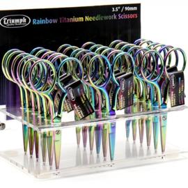Borduurschaartje Rainbow - 9 cm