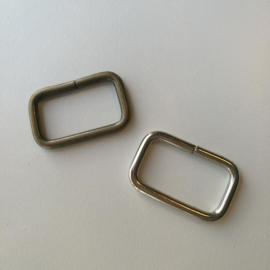 Passant rechthoekig - zilver en brons