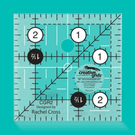 Creative Grids Quilt ruler 2,5 x 2,5 inch  - CGR2