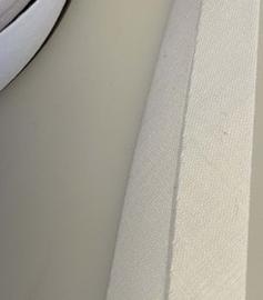 Biasband katoen 20 mm - gebroken wit