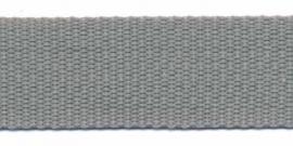 Tassenband 25 mm licht grijs
